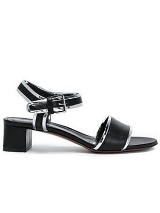Marni Marni Woman Metallic-trimmed Leather Sandals Black Size 40.5
