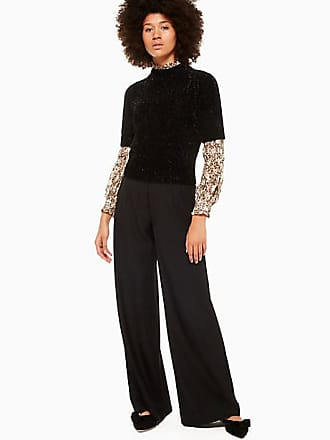Kate Spade New York Metallic Texture Sweater, Black - Size XXS