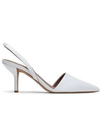 Diane Von Fürstenberg Diane Von Furstenberg Woman Mortelle Leather Slingback Pumps White Size 11.5