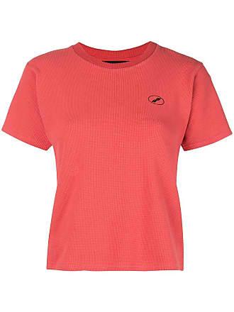 We11done Camiseta com logo Waffle - Vermelho