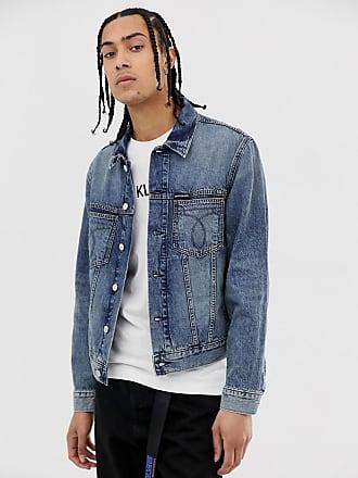 8c2af465 Calvin Klein Jeans omega slim denim jacket in lightwash blue