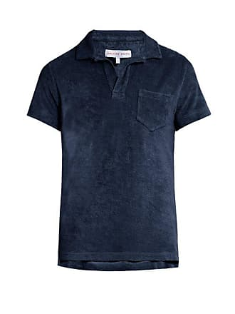 Orlebar Brown Terry Towelling Cotton Polo Shirt - Mens - Navy