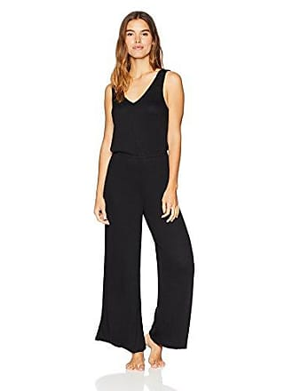 Eberjey Womens Elon Relaxed Jumpsuit, Black, Large