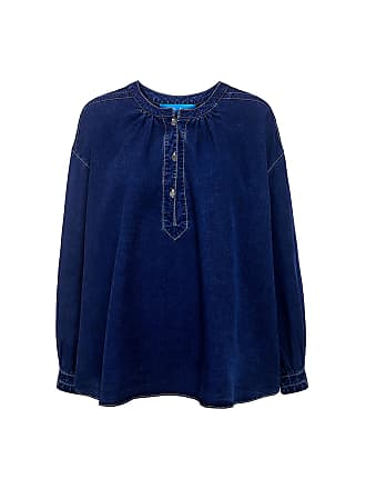 Mih Jeans Oldfield Peasant denim top Indigo Ind