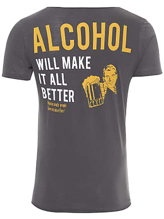 PURPLE YELLOW CAMISETA MASCULINA ALCOHOL - CINZA