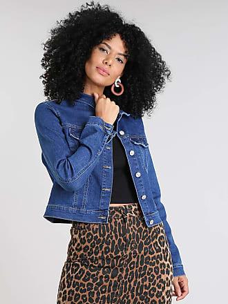 65a305792 C&A Jaqueta Jeans Feminina Cropped com Bolsos Azul Escuro