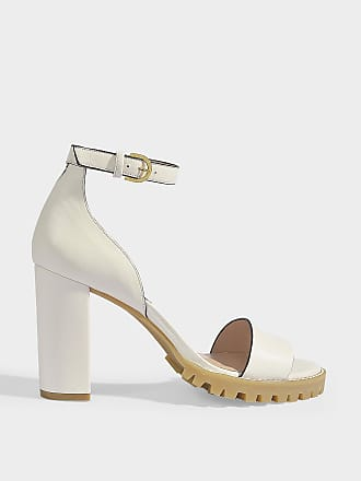 cadf773d4db2 Stuart Weitzman Winona Platforms Sandals in Cream Dress Nappa Leather