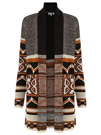 Pop Up Store Casacos de tricô com padronagem - Marrom f14d1301839