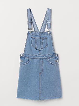 H&M Denim Bib Overall Dress - Blue