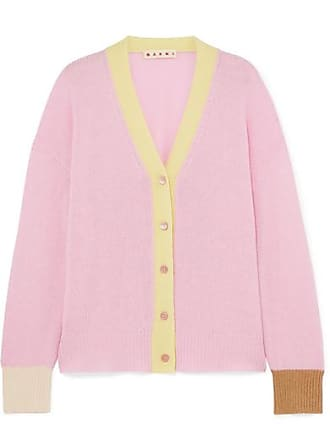 Marni Striped Cashmere Cardigan - Pink