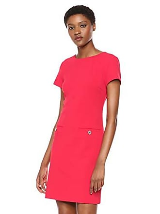 9337f173bdb Tommy Hilfiger Womens Scuba Crepe Pocket Dress, Raspberry, 4