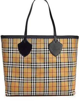 a4729cc81 Burberry Burberry Woman Giant Reversible Leather-trimmed Checked  Bonded-cotton Tote Yellow Size