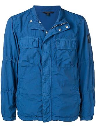 Belstaff wrinkle effect jacket - Azul