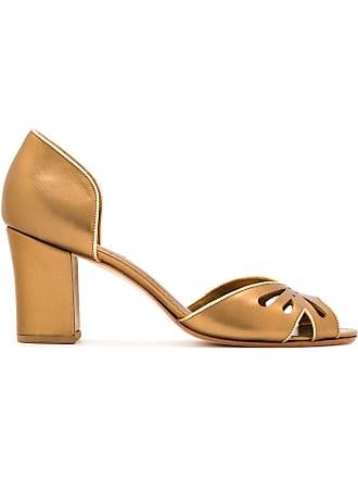 Sarah Chofakian Peep toe de couro - Estampado
