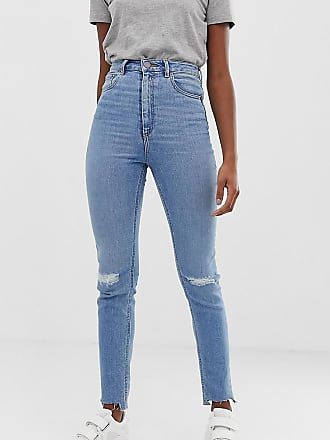 a1f96cba789a Asos Tall ASOS DESIGN Tall Farleigh high waisted slim mom jeans in light  vintage wash with