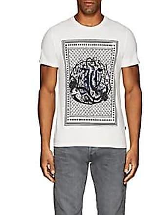 Just Cavalli Mens Logo-Print Cotton T-Shirt - White Size S