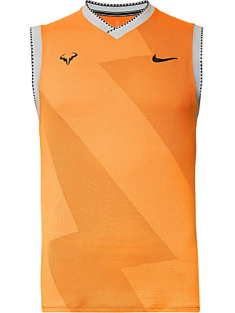 Nike Rafa Slim-fit Aeroreact Tennis Tank Top - Orange