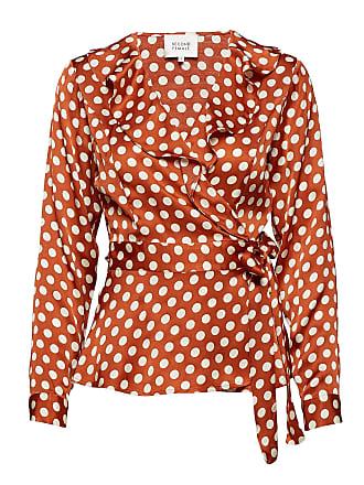 dedeb099 Second Female Spotty Wrap Blouse Blus Långärmad Orange SECOND FEMALE