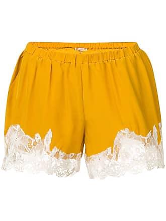 Gold Hawk Short com renda na barra - Amarelo