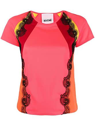Koché Camiseta com aplicação de renda - Rosa
