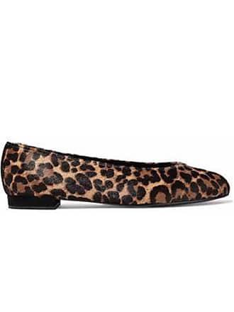 3050be4b011 Stuart Weitzman Stuart Weitzman Woman Leopard-print Calf Hair Ballet Flats  Animal Print Size 35.5