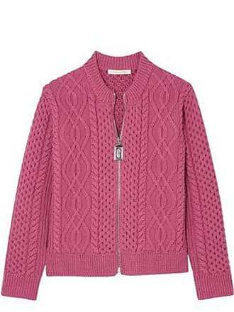 Marc Jacobs Marc Jacobs Woman Cable-knit Merino Wool Cardigan Fuchsia Size S