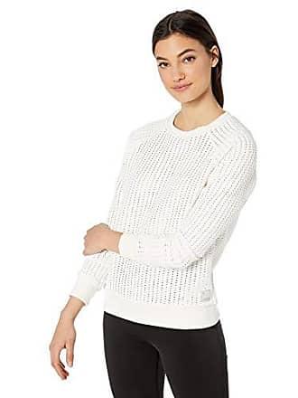 Maaji Womens Fashion Textured Pullover Sweatshirt, Sleek Blanc White, Small