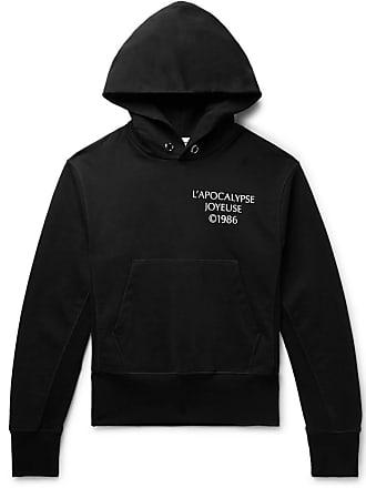 Helmut Lang Printed Loopback Cotton-jersey Hoodie - Black