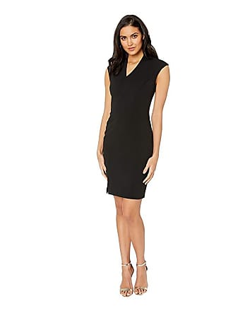 Ted Baker Geodese Narnia Wrap Front Pencil Dress (Black) Womens Dress