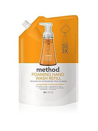 Method Foaming Hand Soap Refill, Orange Ginger, 28 Fl. Oz (Pack of 6)
