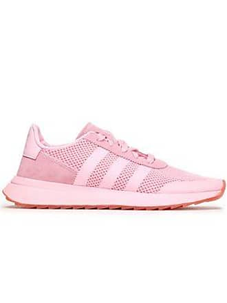 6bb8d7fad28728 adidas Adidas Originals Woman Suede-trimmed Mesh Sneakers Baby Pink Size 4.5