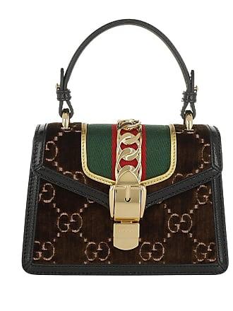 f89990b624c28 Gucci Sylvie GG Mini Bag Velvet Brown Umhängetasche braun
