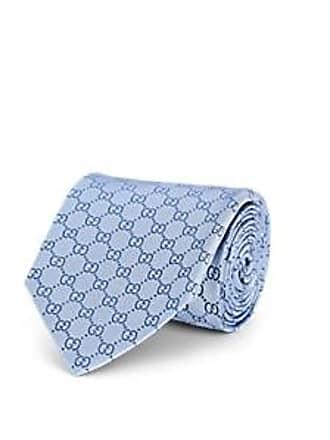 96a7733ff61f Gucci Mens GG-Pattern Silk Jacquard Necktie - Lt. Blue