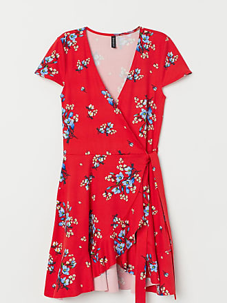 H&M Ruffled Wrap Dress - Red