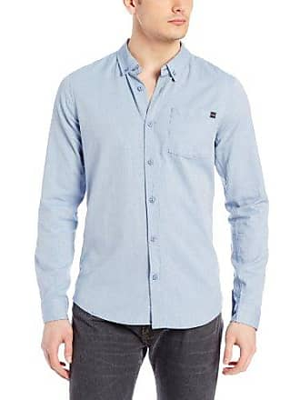 O'Neill Mens Kepler Woven Shirt, Blue, Small