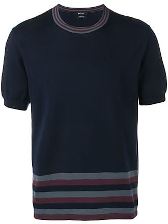 Qasimi stripe detail T-shirt - Blue