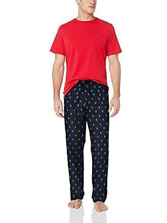 7e4c353707 Tommy Hilfiger Mens 100% Cotton Poplin Pajama Set