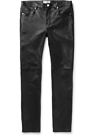 Saint Laurent Skinny-fit Leather Trousers - Black
