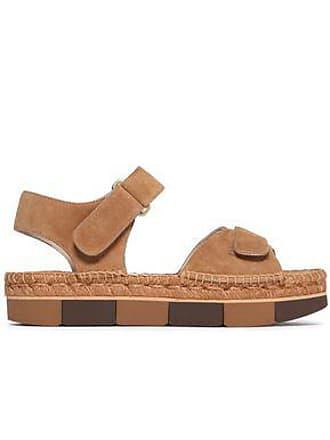 7320fd4c9917 Paloma Barceló Paloma Barceló Woman Suede Platform Sandals Camel Size 36