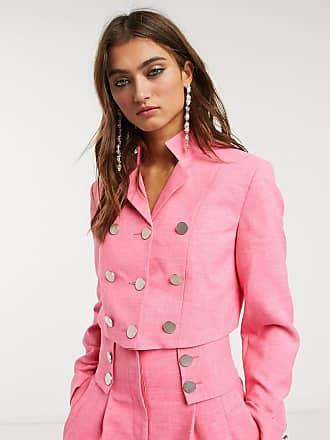 Topshop IDOL crop blazer co-ord in hot pink