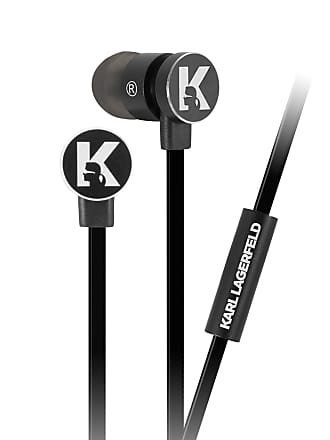 Karl Lagerfeld Black Wire Earphone