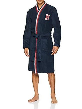 98ef285133da57 Tommy Hilfiger Herren Towelling Robe Badewanne, Blau (Blue 416),  ((Herstellergröße