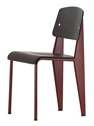 Vitra Standard Chair Japanese Red & Dark Oak