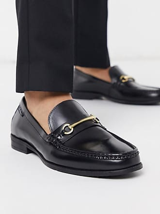Ben Sherman leather loafer in black