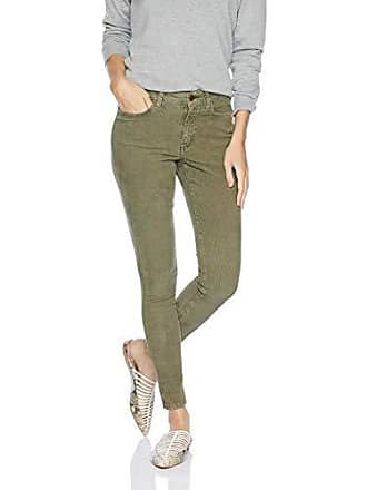 Daily Ritual Womens Corduroy 5-Pocket Skinny Pant, light olive green, 14