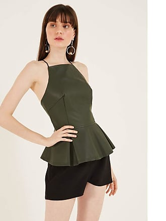41ee821b25 Pop Up Store BLUSA MILITAR PEPLUM PEPLUM LEATHER MILITARY-VERDE-44