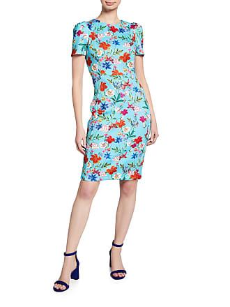 Iconic American Designer Floral Scuba Sheath Dress