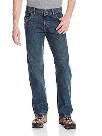 Wrangler Mens Rugged Wear Relaxed Straight Fit Jean,Blue,30x32