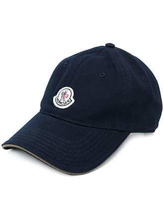 Moncler Boné com patch de logo - Azul