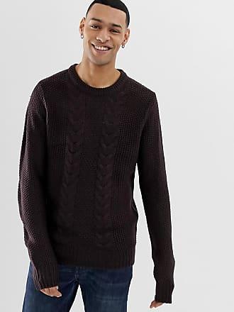 Brave Soul Cable Knit Sweater - Purple
